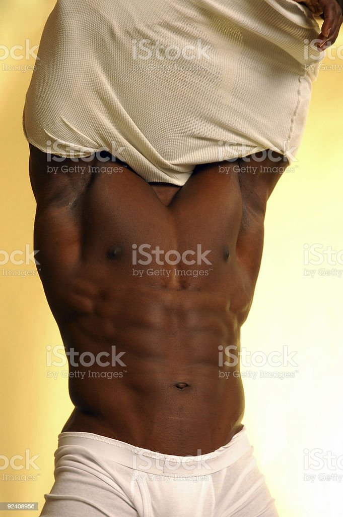 male muscle strip royalty-free stock photo