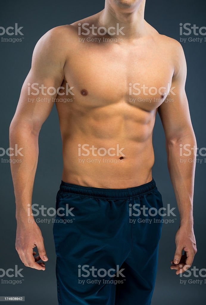 Male Muscular body royalty-free stock photo