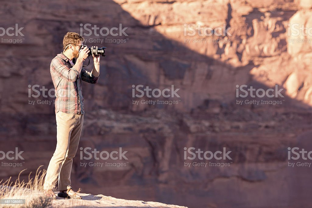 Male Nature Photographer royalty-free stock photo
