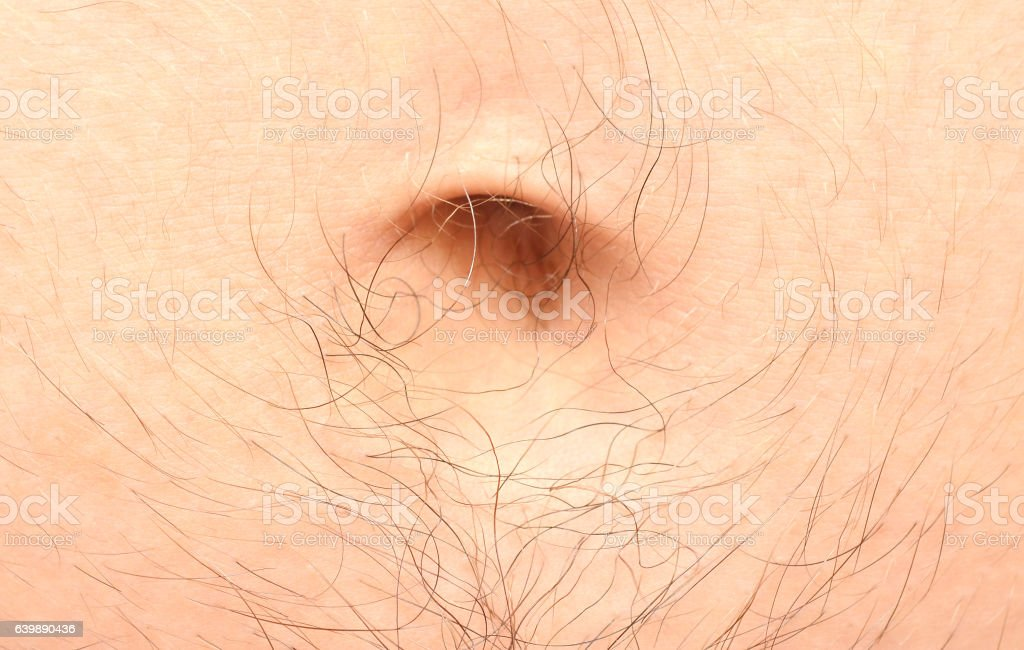 male navel stock photo