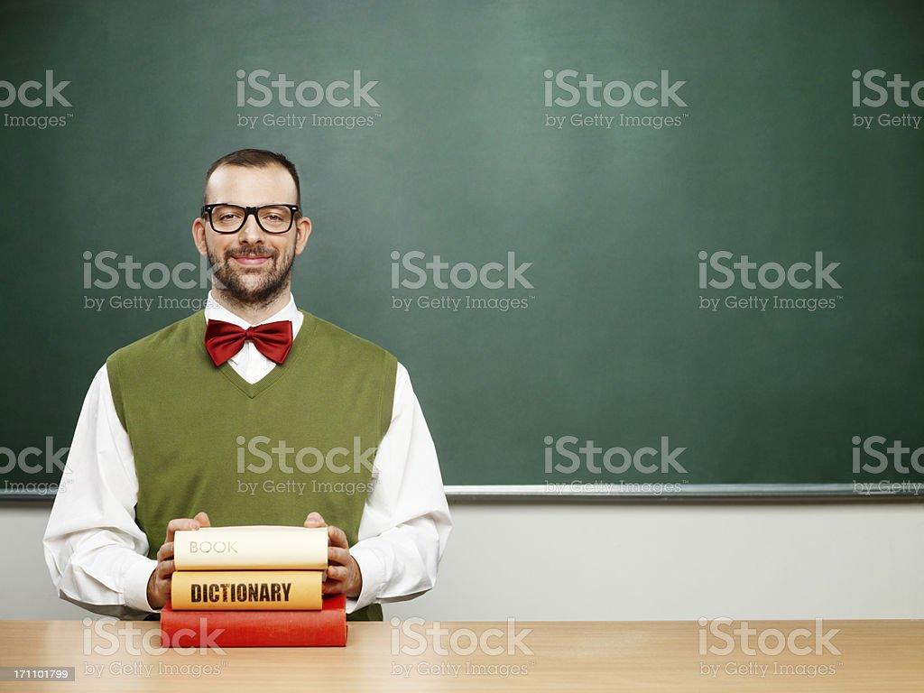 Männliche nerd mit Büchern – Foto