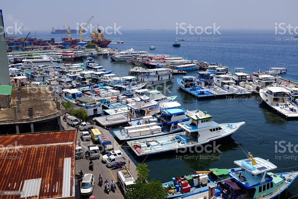 Male' North Harbour stock photo