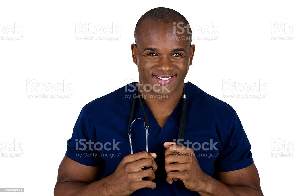 Male nurse or doctor royalty-free stock photo