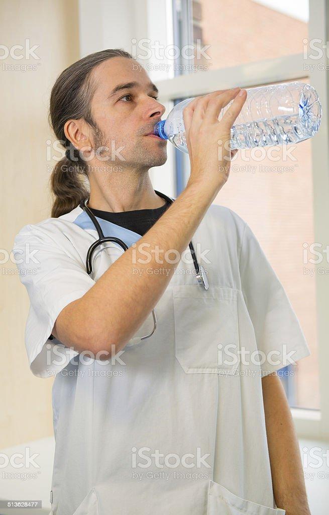 male nurse stock photo