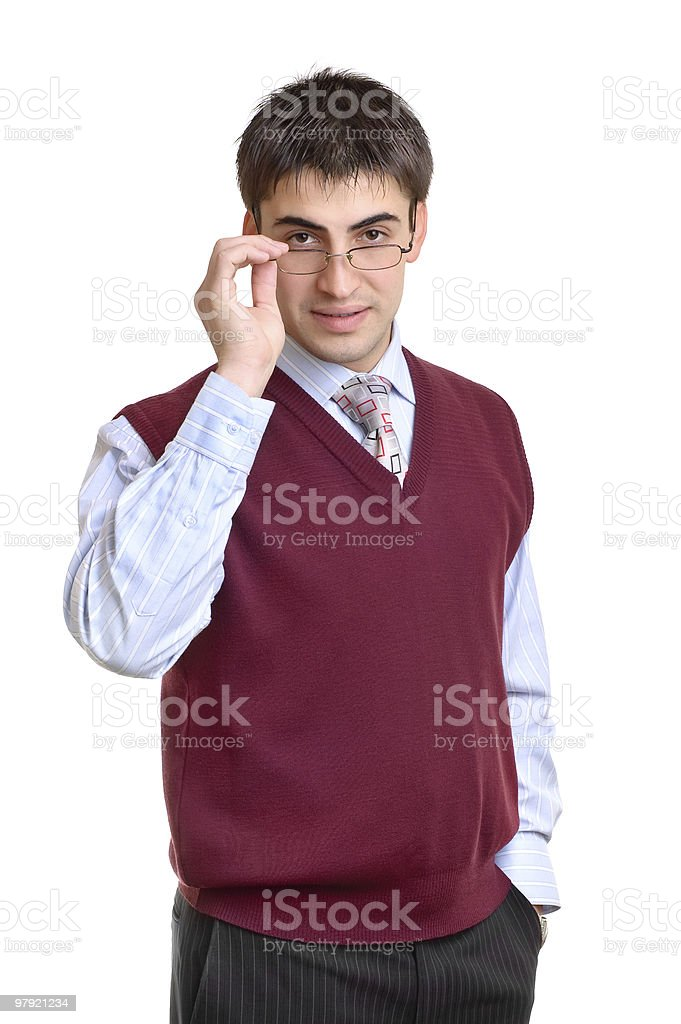 male office worker royalty-free stock photo
