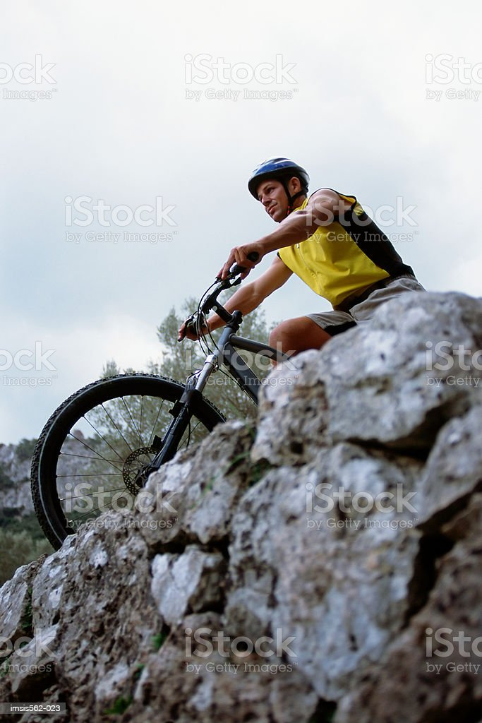 Male on mountain bike royalty-free stock photo