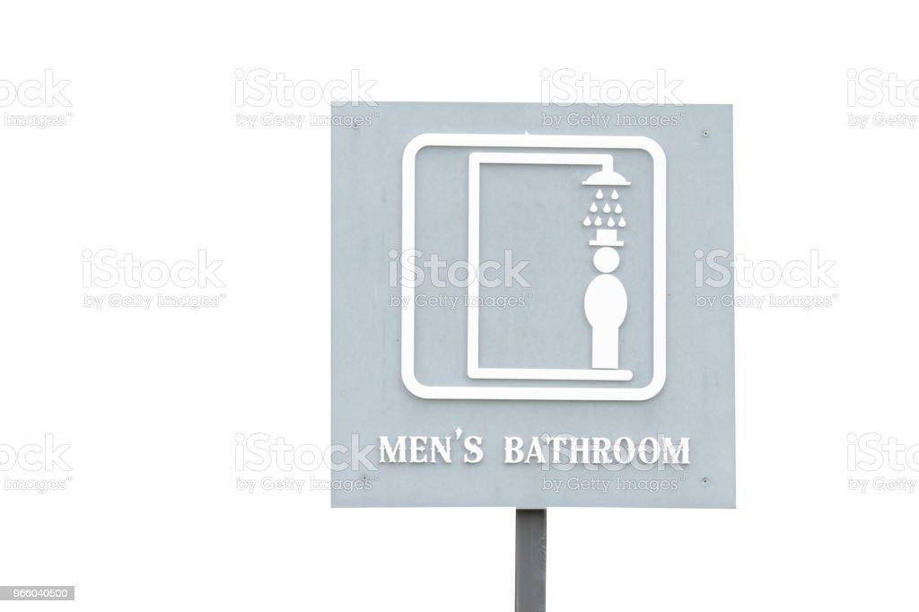 Mannelijke of mannen badkamer teken Label - Royalty-free Badkamer Stockfoto