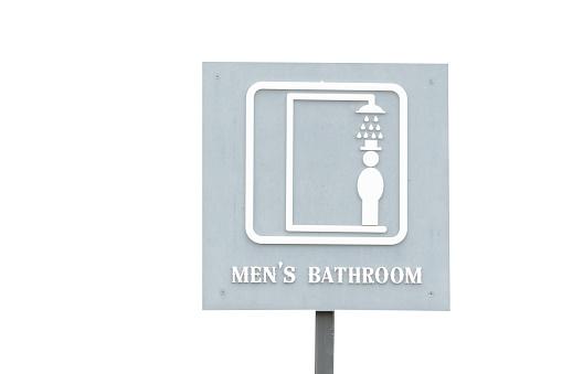 Mannelijke Of Mannen Badkamer Teken Label Stockfoto en meer beelden van Badkamer