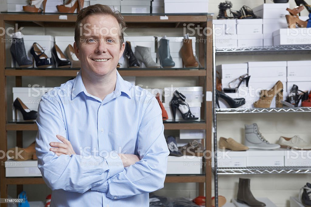 Male Owner Of Shoe Store royalty-free stock photo