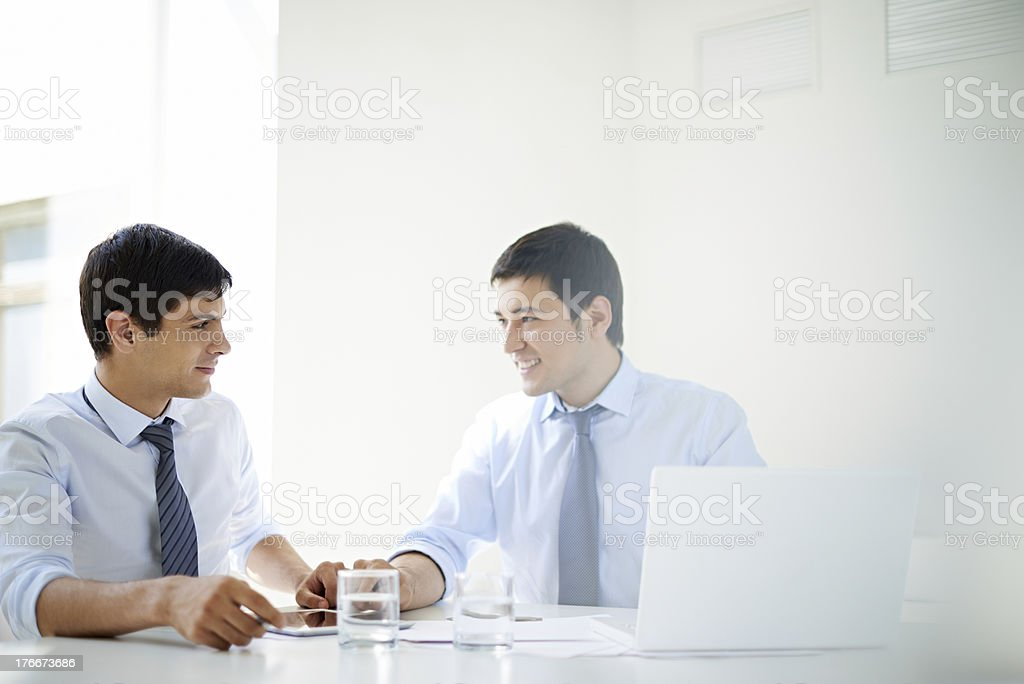 Male partners royalty-free stock photo
