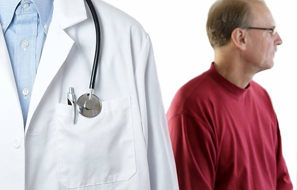 Male Patient with Doctor stock photo