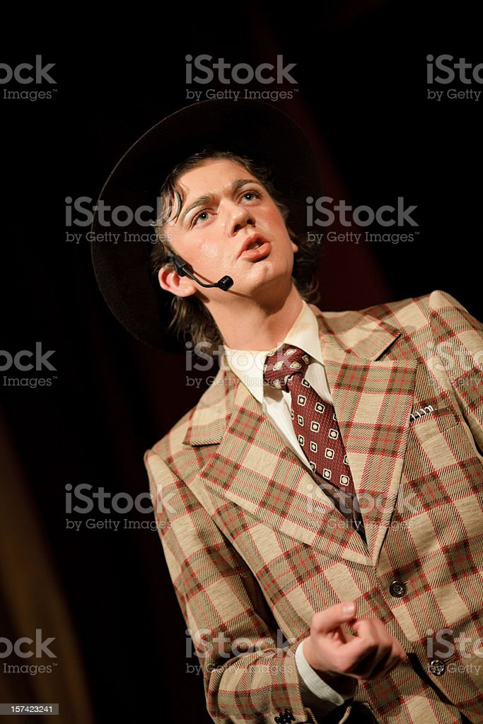 Male Performer Musical stock photo
