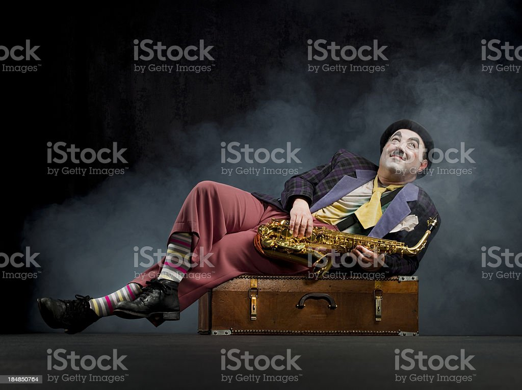 Male performer on the stage royalty-free stock photo