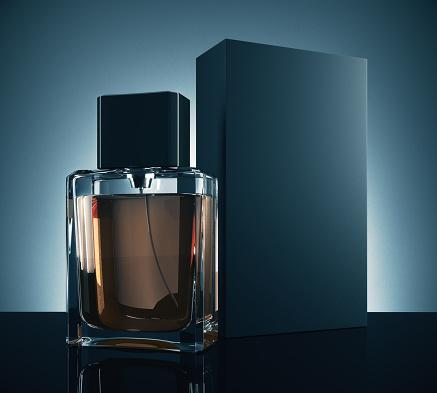 istock Male perfume advertising concept 830827130