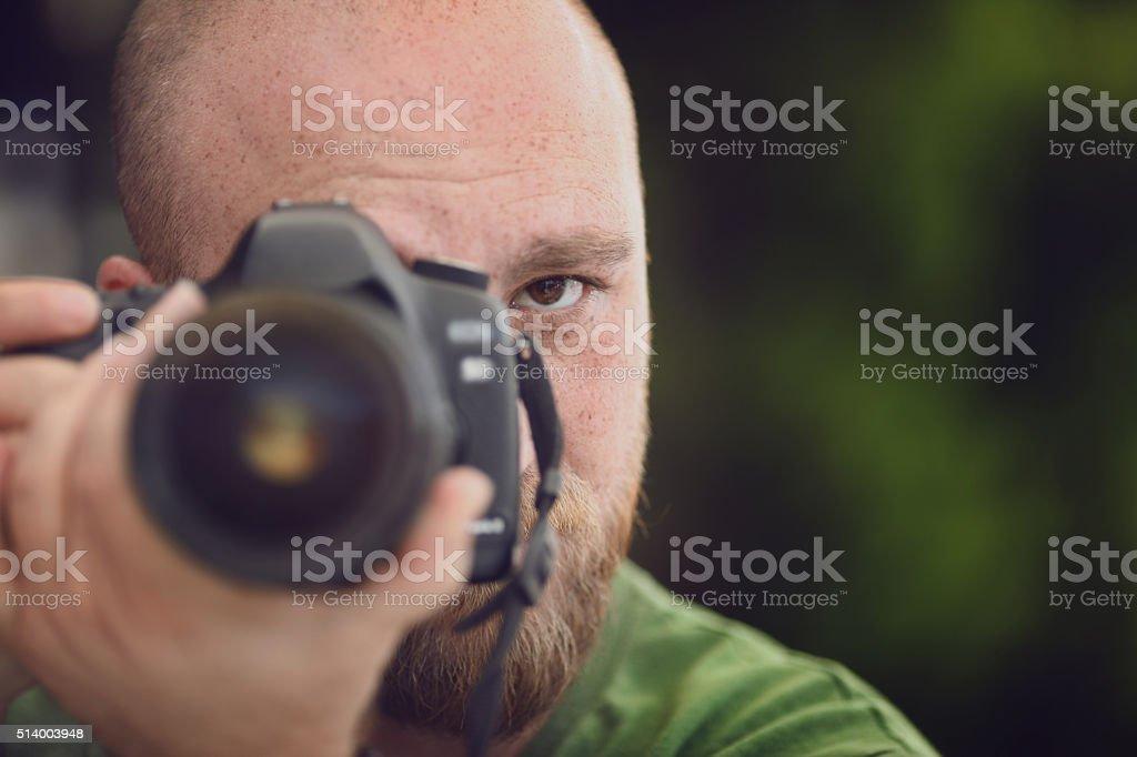 male photographer stock photo