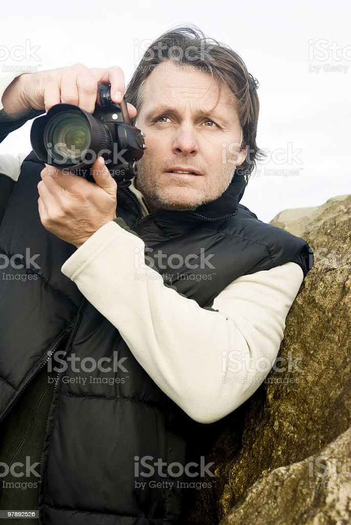 Male photographer royalty-free stock photo
