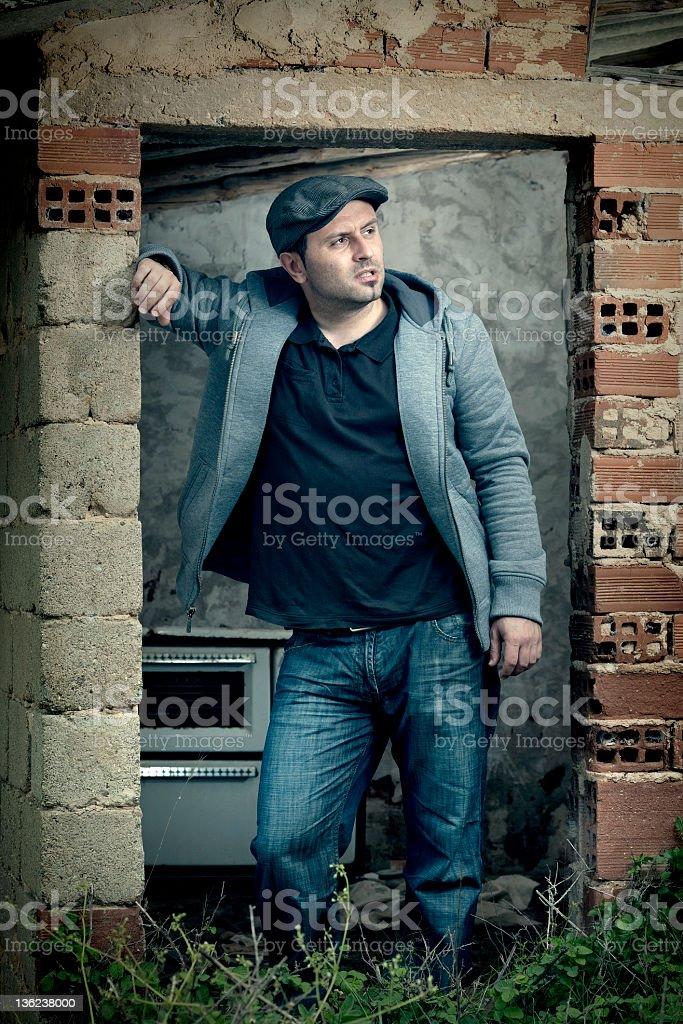 Male posing royalty-free stock photo