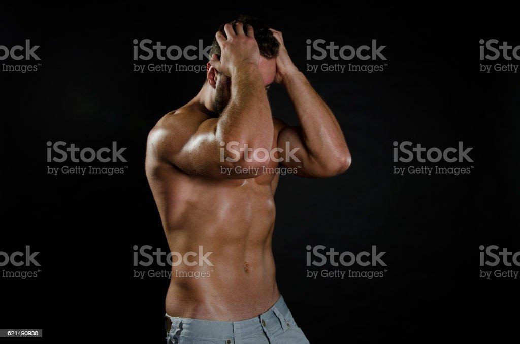 Male problems and depression. photo libre de droits