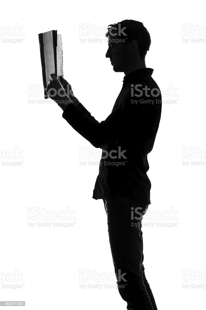 Male reading royalty-free stock photo