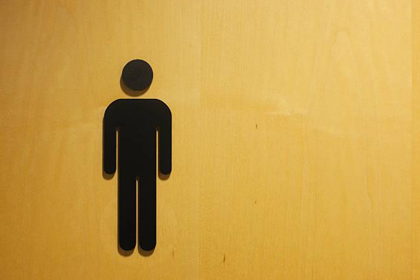 Banheiro masculino símbolo. - foto de acervo