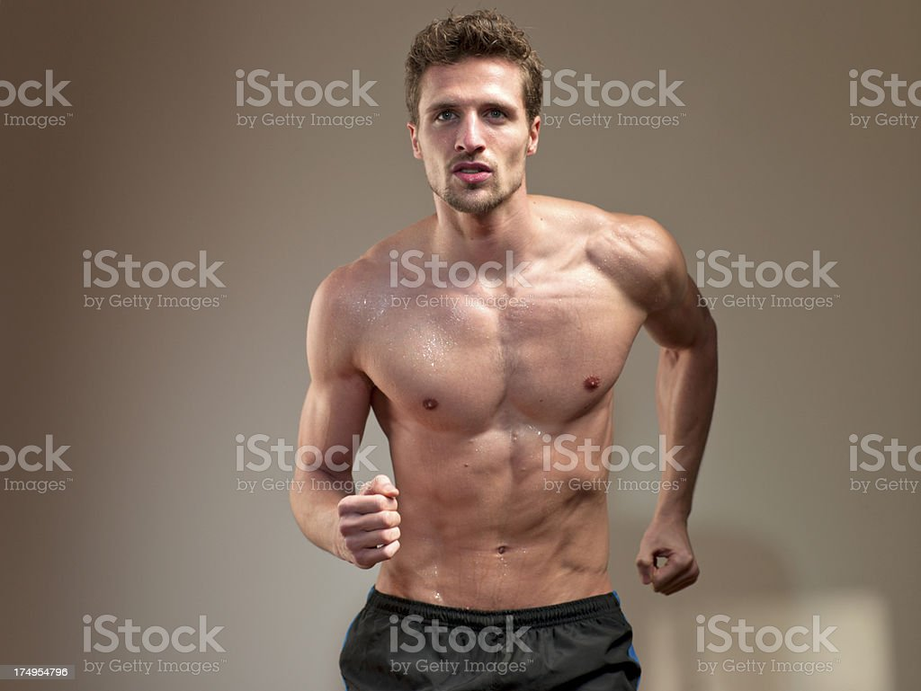 Male Runner royalty-free stock photo