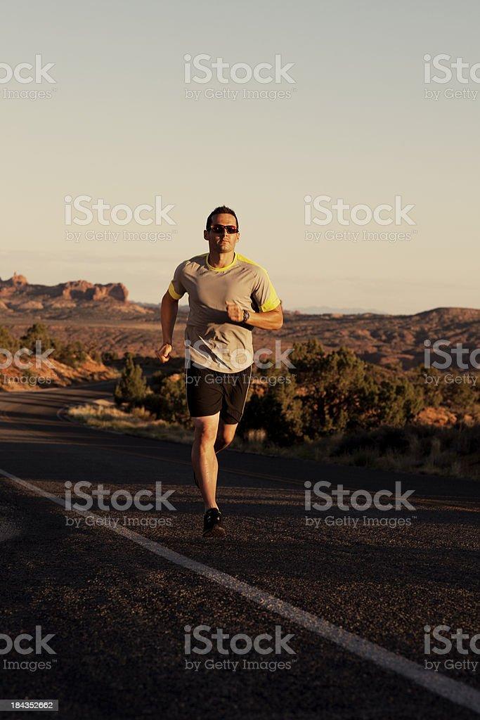 Männliche Runner Lizenzfreies stock-foto