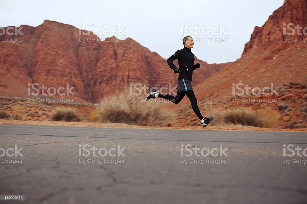 Male Runner stock photo