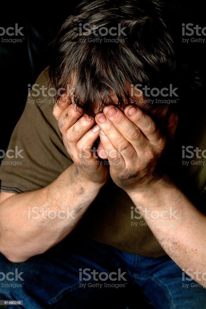 Male sadness 2 stock photo