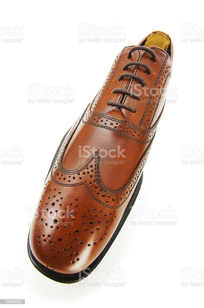 Male Shoes Isolated On The White Background Stock Photo