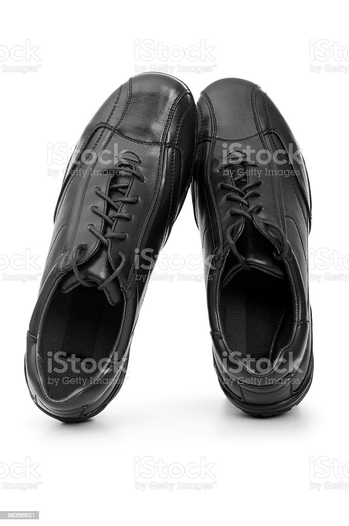 Male shoes isolated on the white background royalty-free stock photo