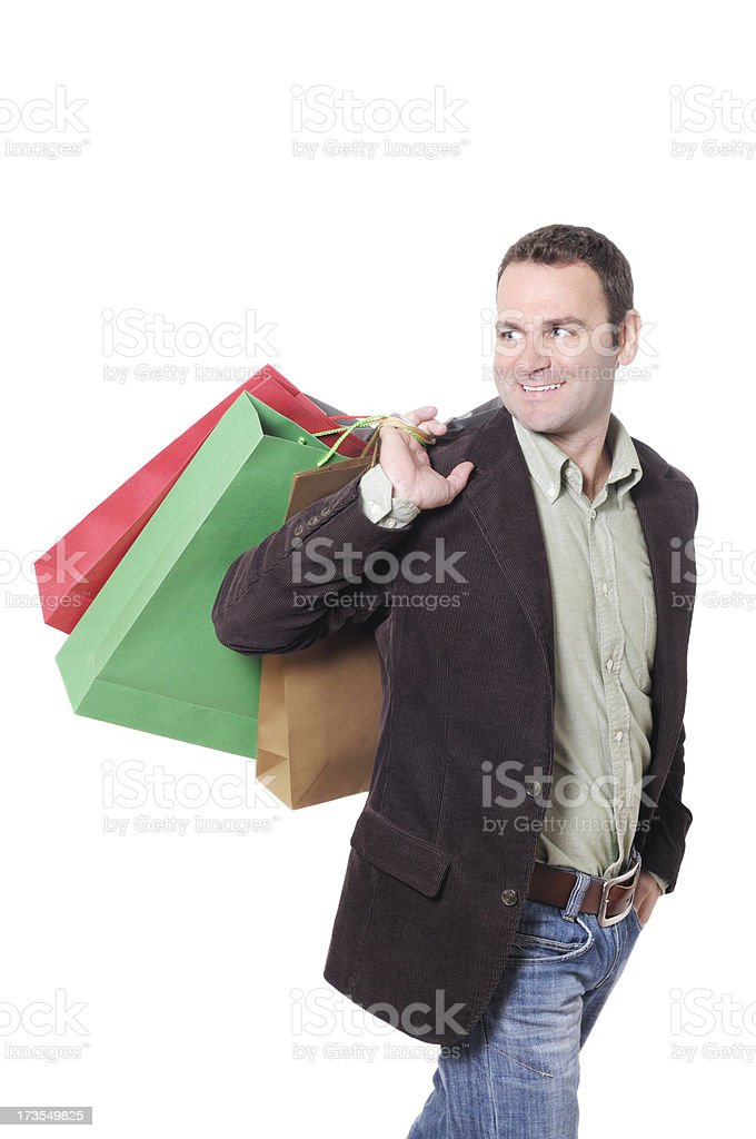 Male Shopper royalty-free stock photo