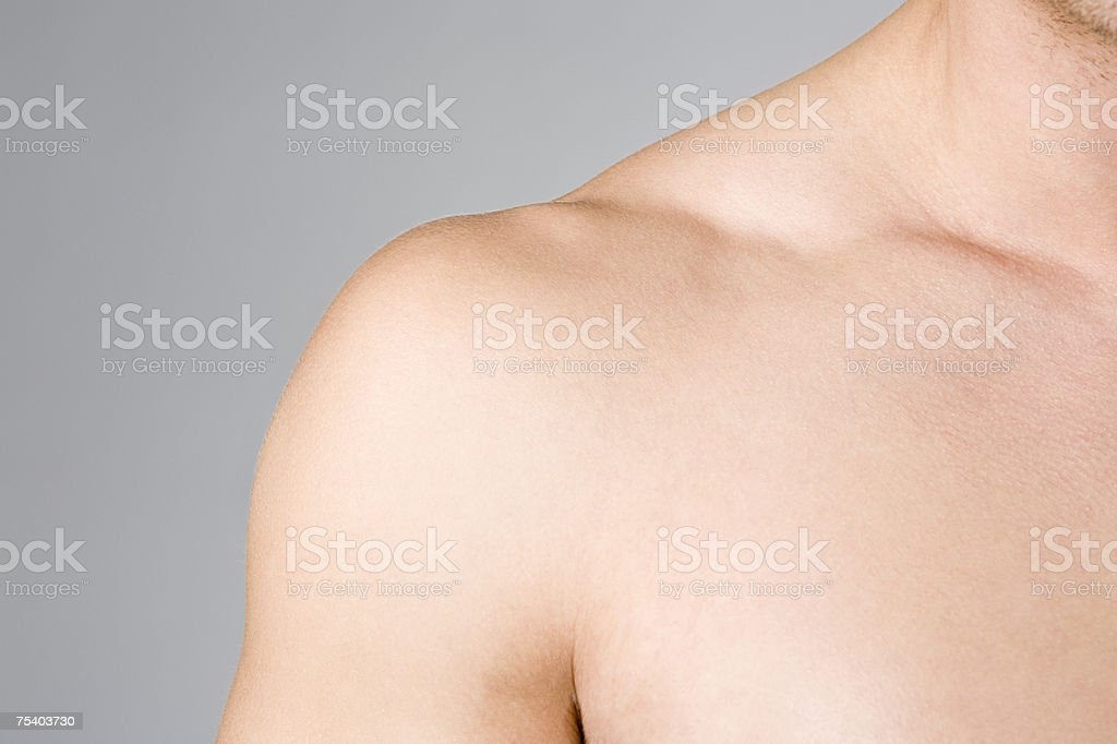Male shoulder royalty-free stock photo