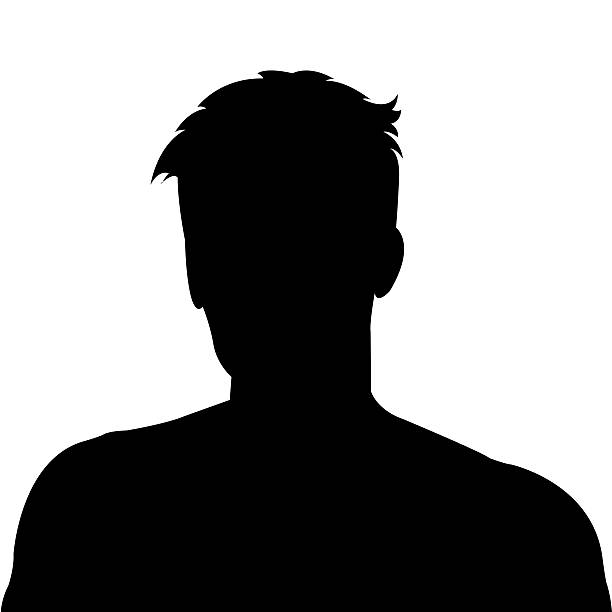 silhouette homme comme avatar photo de profil - Photo