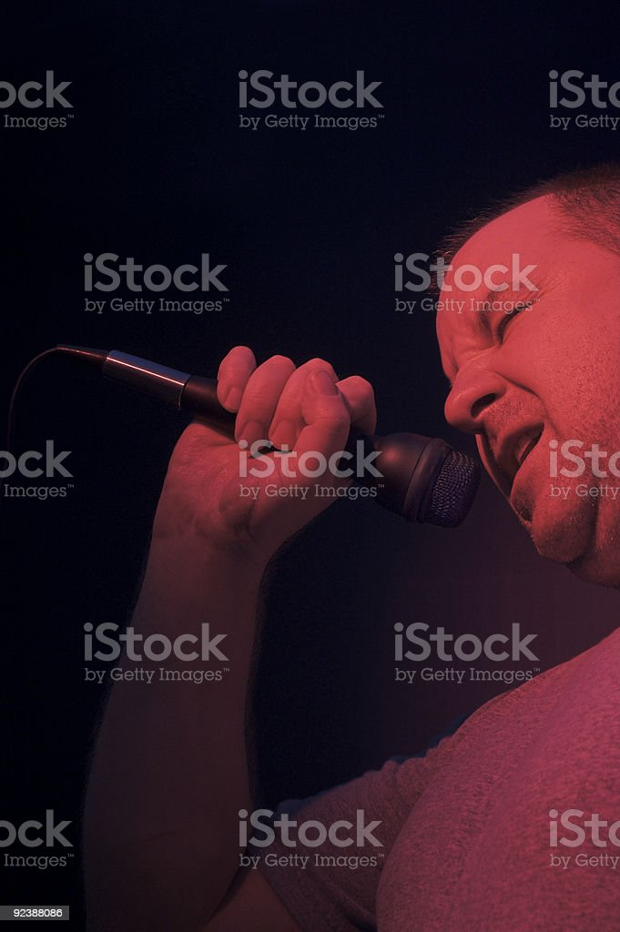 Male Singer royalty-free stock photo