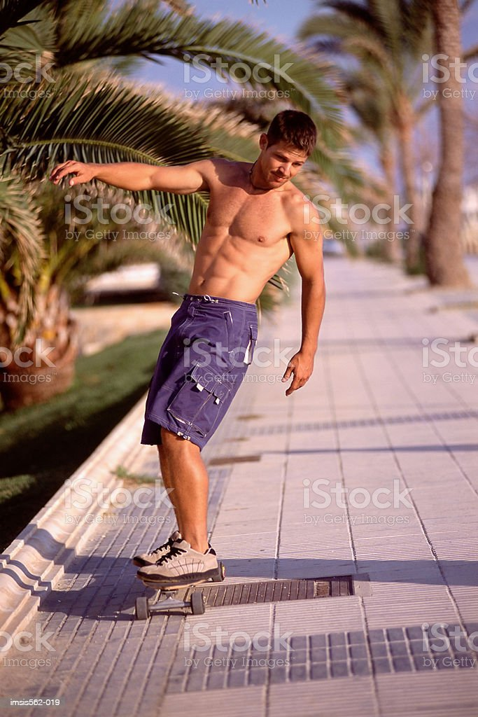 Male skateboarding royalty-free stock photo