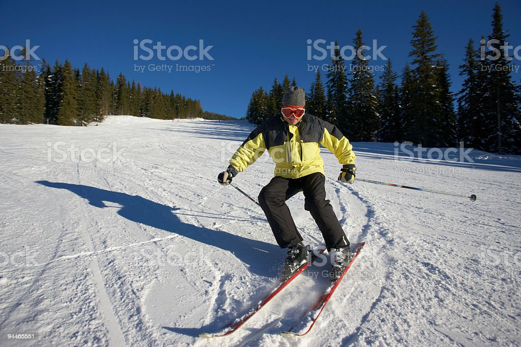 male skier royalty-free stock photo