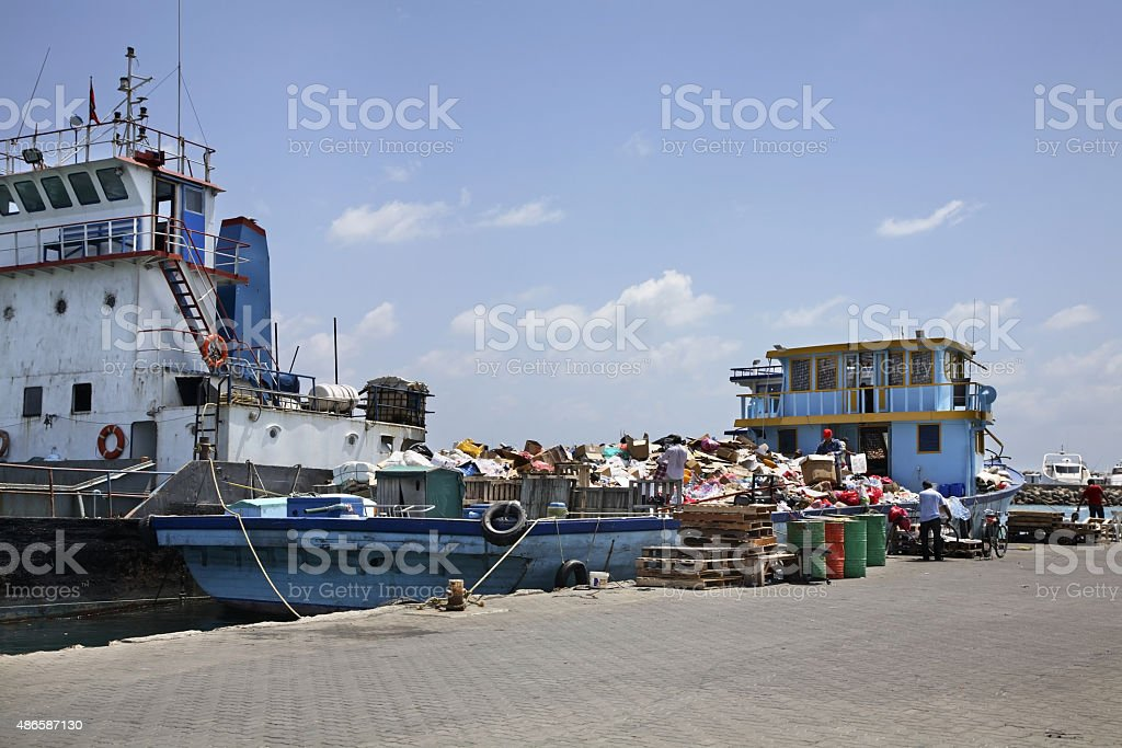 Male South West Harbor. Republic of the Maldives royalty-free stock photo