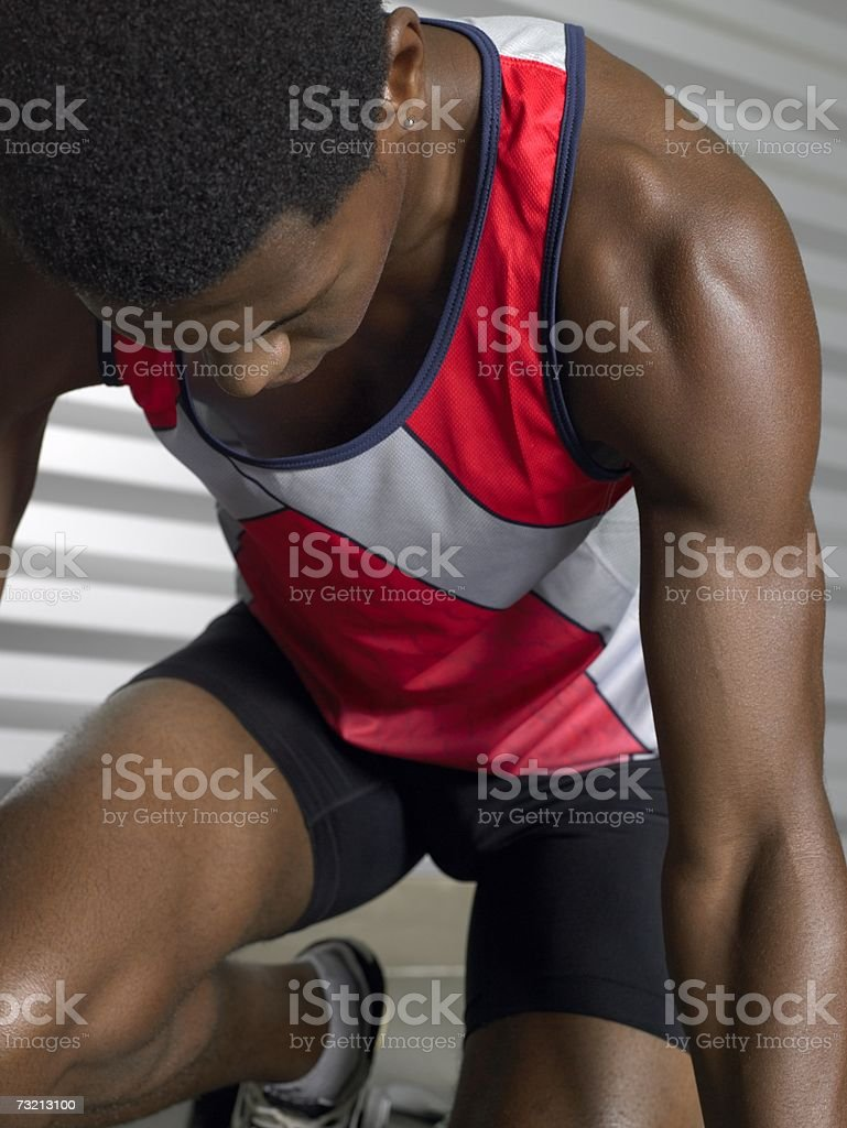 Male sprinter royalty-free stock photo