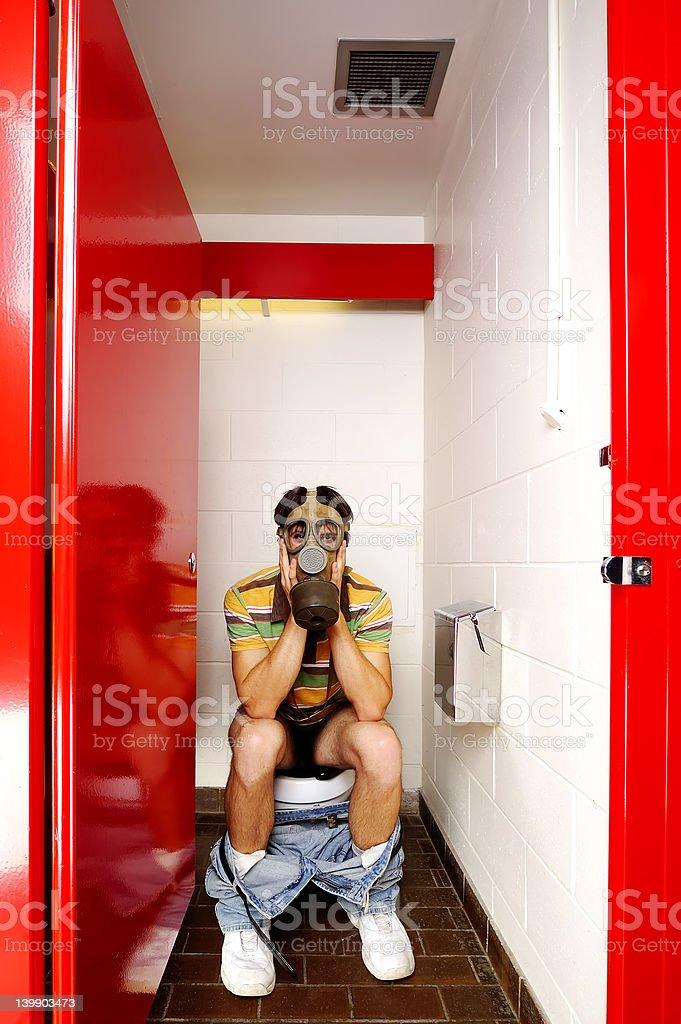 Male Stall GasMask royalty-free stock photo