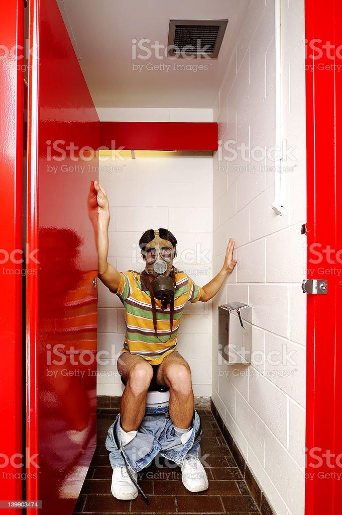 Male Stall GasMask2 royalty-free stock photo