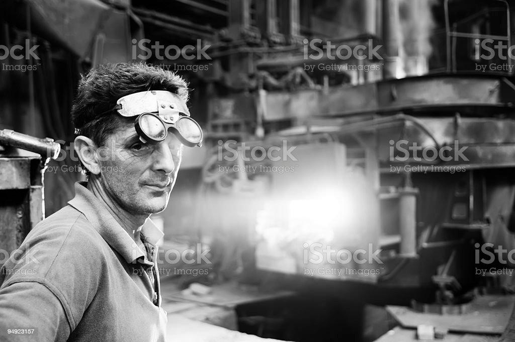steel mill Arbeiter – Foto