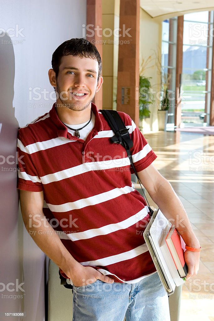 Male Student Male Student (could be late high school or early college) Adolescence Stock Photo