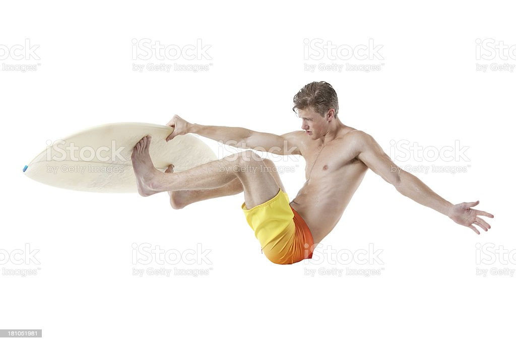 Male surfer in action royalty-free stock photo