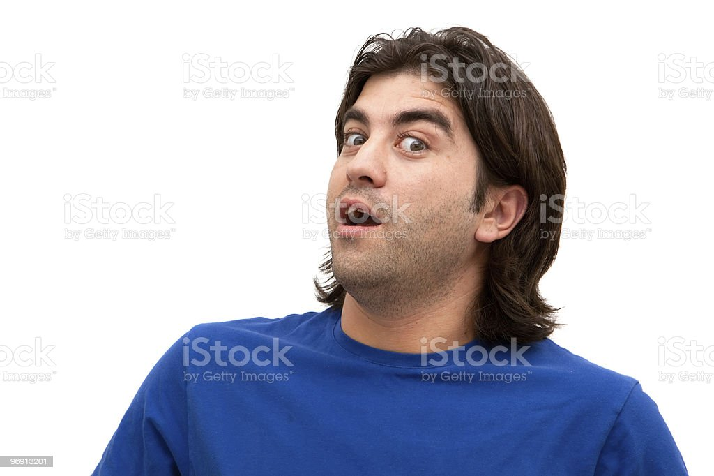 Male surprised facial expression royalty-free stock photo