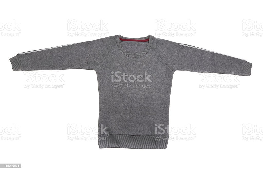 Male sweater isolated on the white royalty-free stock photo