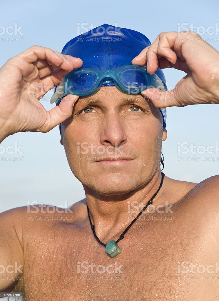 male swimmer royalty-free stock photo