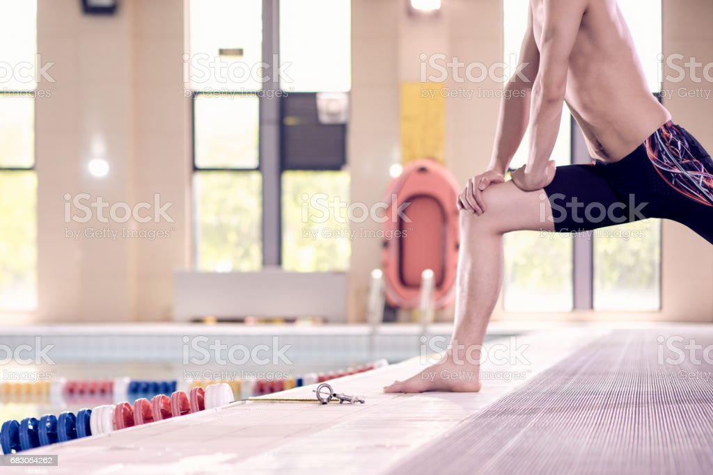 Male Swimmer Warming Up foto de stock royalty-free