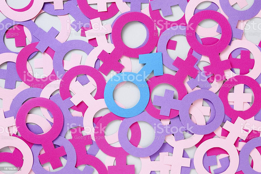 Männersymbol über Weibliche Kinder Stock-Fotografie und mehr Bilder ...