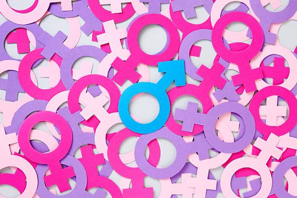 Símbolo Masculino mais queridos feminino - foto de acervo