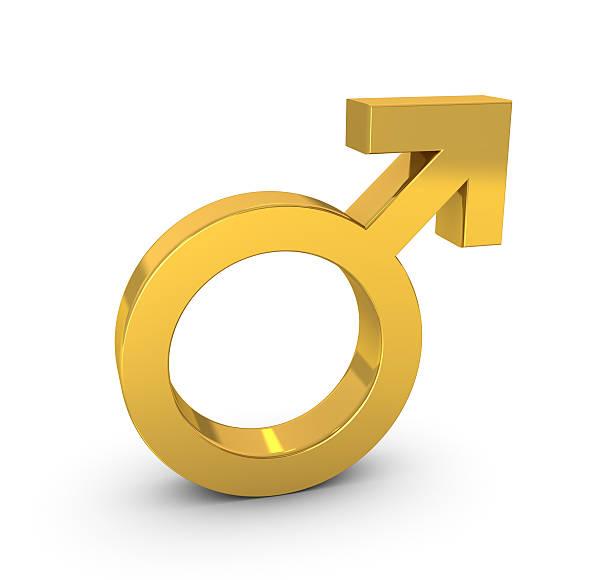 Símbolo Masculino - foto de acervo